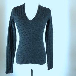 RALPH LAUREN BLACK LABEL cashmere cable v sweater